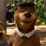 Boo Boo, as voiced by JUSTIN TIMBERLAKE, and Yogi Bear, as voiced by DAN AYKROYD, in Warner Bros. Pictures', YOGI BEAR.